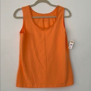 Never been worn orange laced tank top!!!